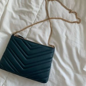 TURQUOISE GOLD CHAIN CROSSBODY BAG